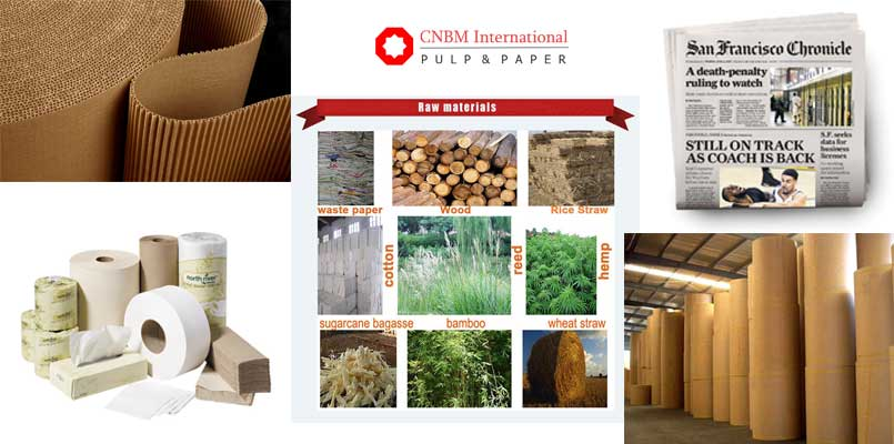 raw materials ratio of paper